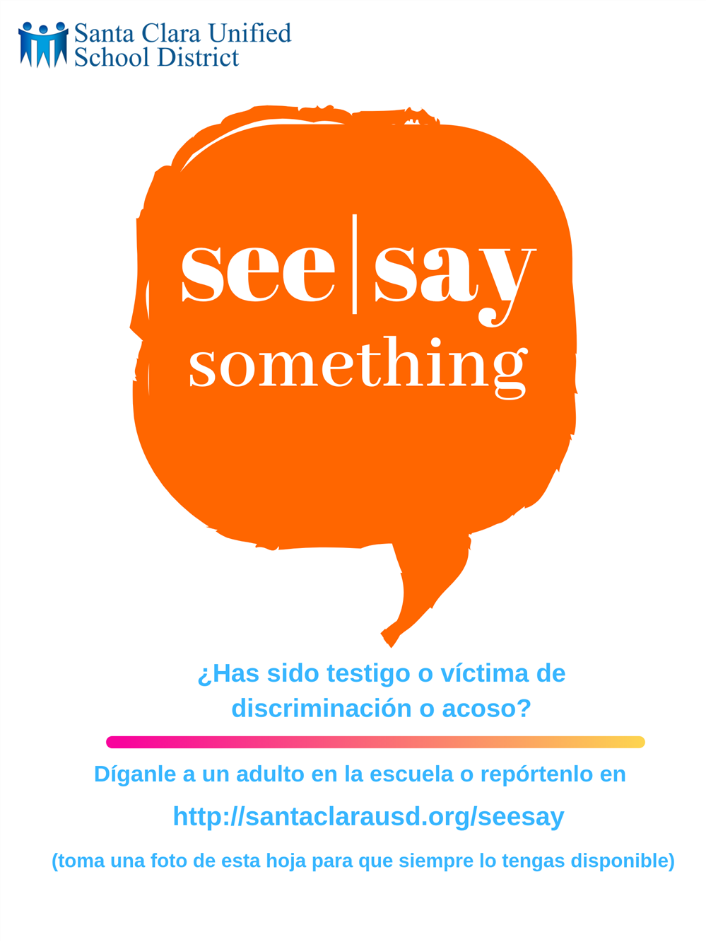 See/Say Something Spanish Version Poster