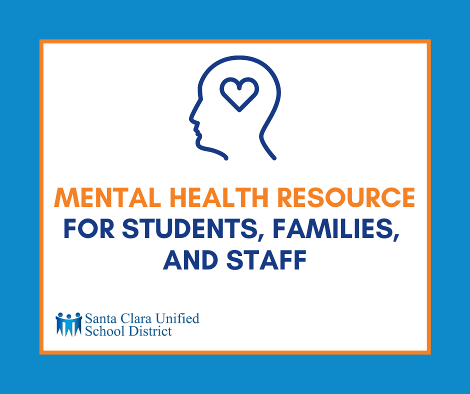 Mental Health Resource fro students families and staff
