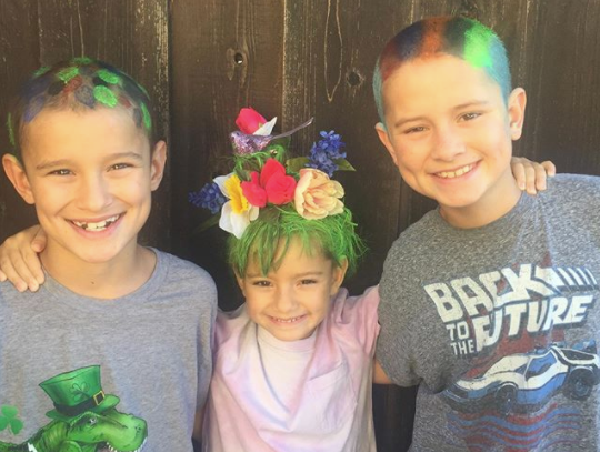 Buchser students celebrate crazy hair day
