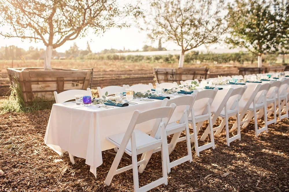 Dinner at the Farm table settings