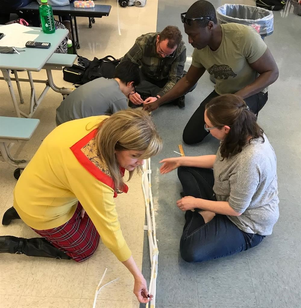 Teachers take part in Tech Challenge during professional development